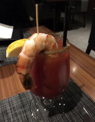 駆け付け一杯!の食前酒はブラッディシーザーで。