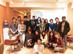東京のサロンで外国人モデルを使ったセミナーを開催