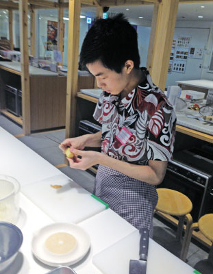 2015年7月、渋谷で料理教室に参加