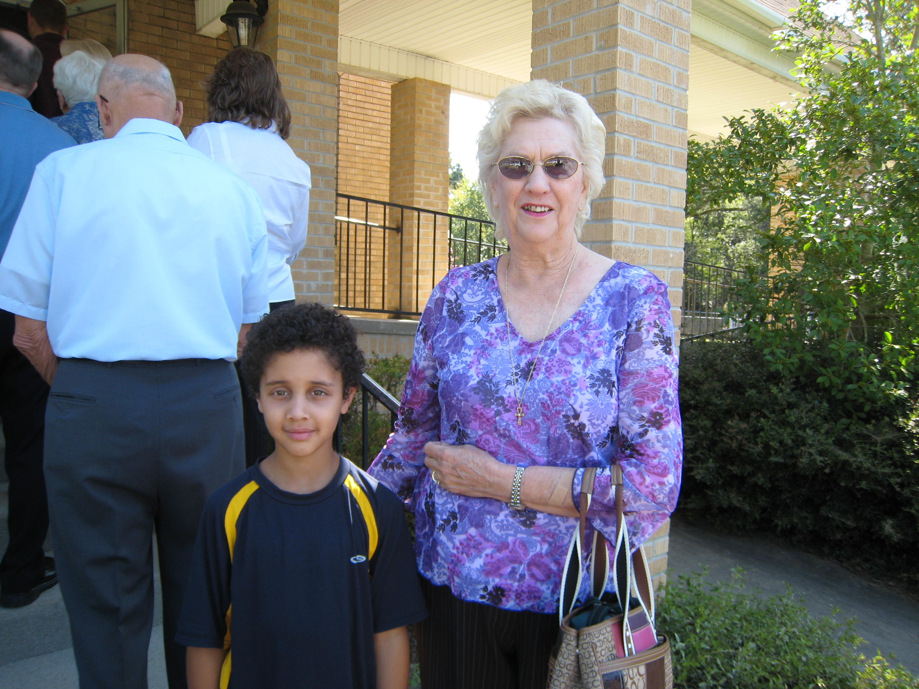 With great grandson Byron Torma at Avinger UMC, Fall 2007.