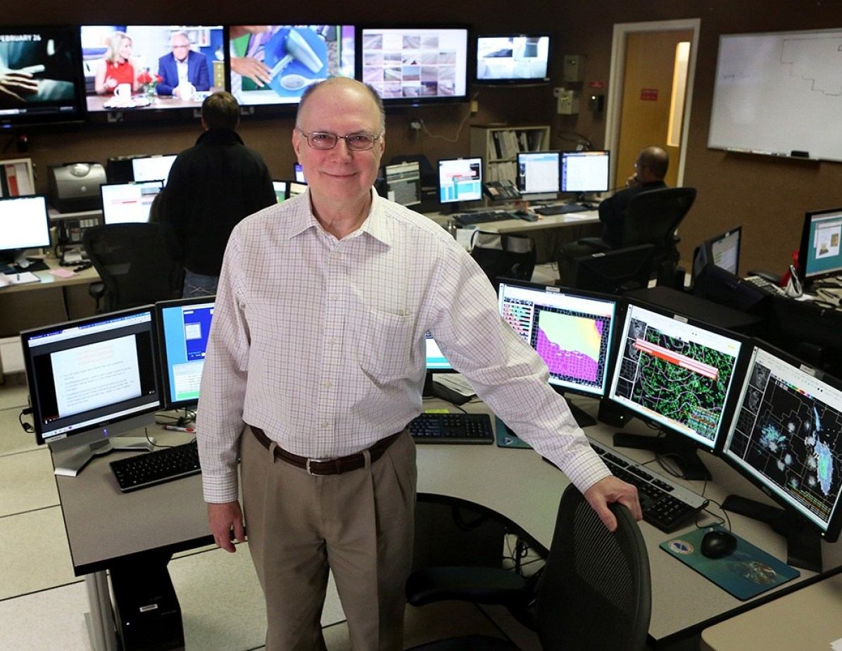 """Mike Akulow, who retired in 2005 after more than 30 years with the National Weather Service in Topeka, says technology used at the time of the June 8, 1966, tornado was """"very crude."""" Today, GPS technology, radar upgrades and an Internet-based chat system has improved the quality and quantity of weather information available."""