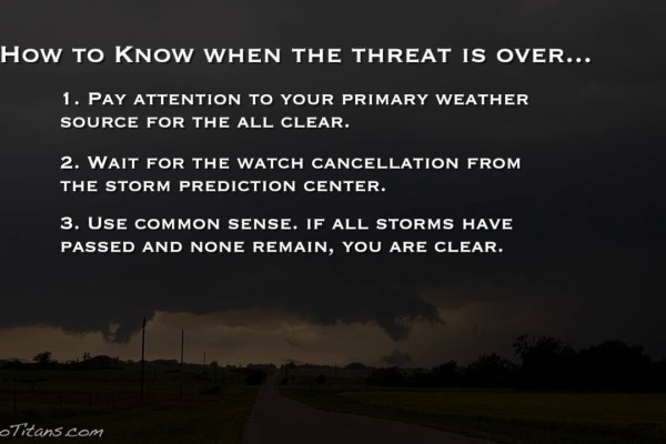 As evening falls, how do you stay informed of severe weather threats?