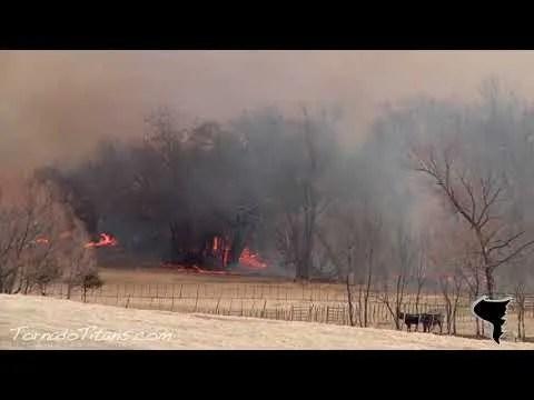March 11, 2011   Wicked Oklahoma Wildfire near Goldsby, OK