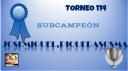 T114 DIPLOMA SUBCAMPEÓN