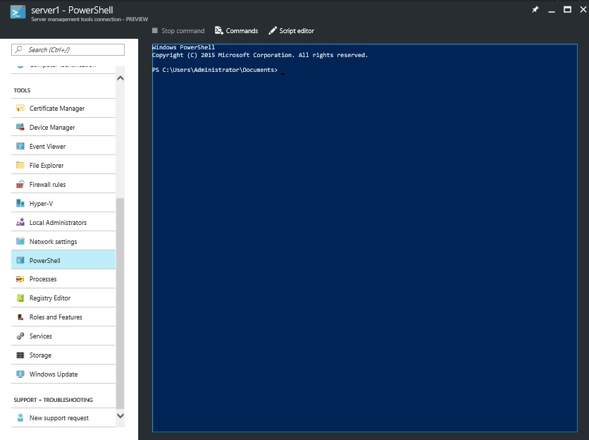 Azure Server Management tools - manage your servers in