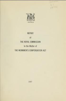 Royal Commission Workmans Compensation Act