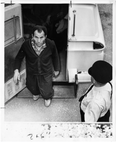 Striker arrested in Etobicoke. Photo by Whyte. June 21, 1961. York University, Clara Thomas Archives and Special Collections, Toronto Telegram fonds, ASC52979.