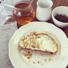 Toast and Tea at St Viateur Cafe at Frank and Oak