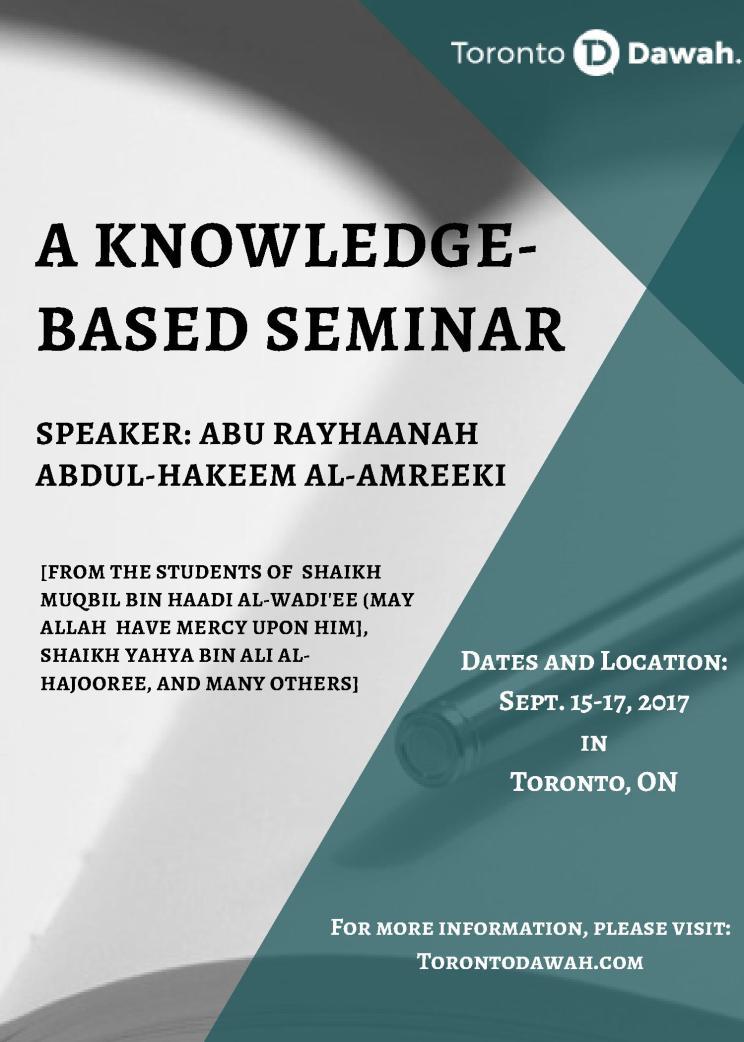 A Knowledge Based Seminar With Abu Rayhaanah Abdul-Hakeem Al-Amreekee