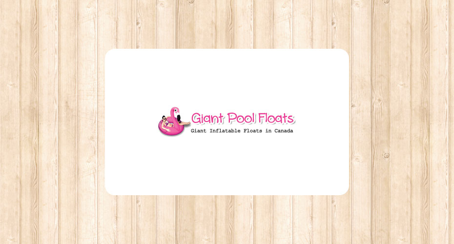 Logo design for a pool float company