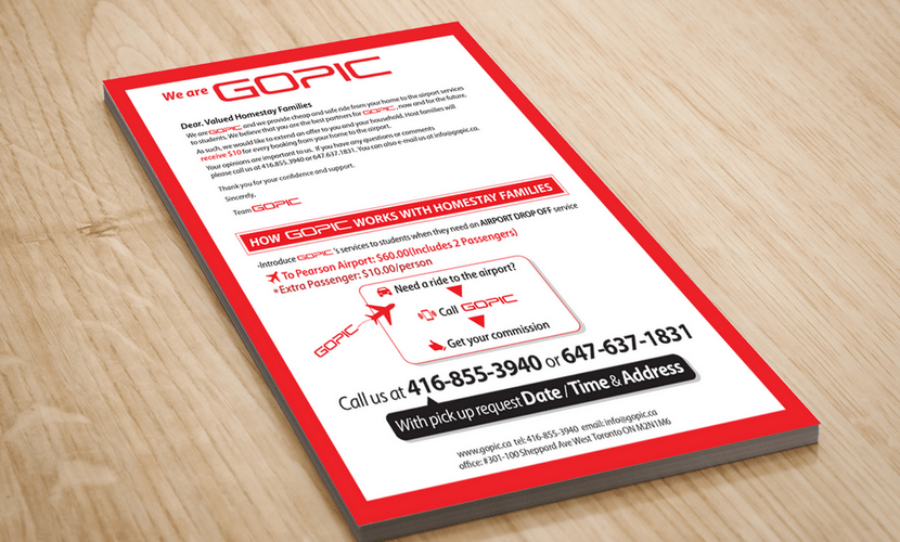 Flyer design & print for a company