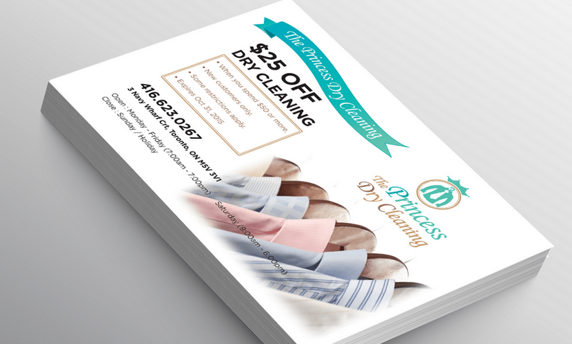 Postcard design & print for a company