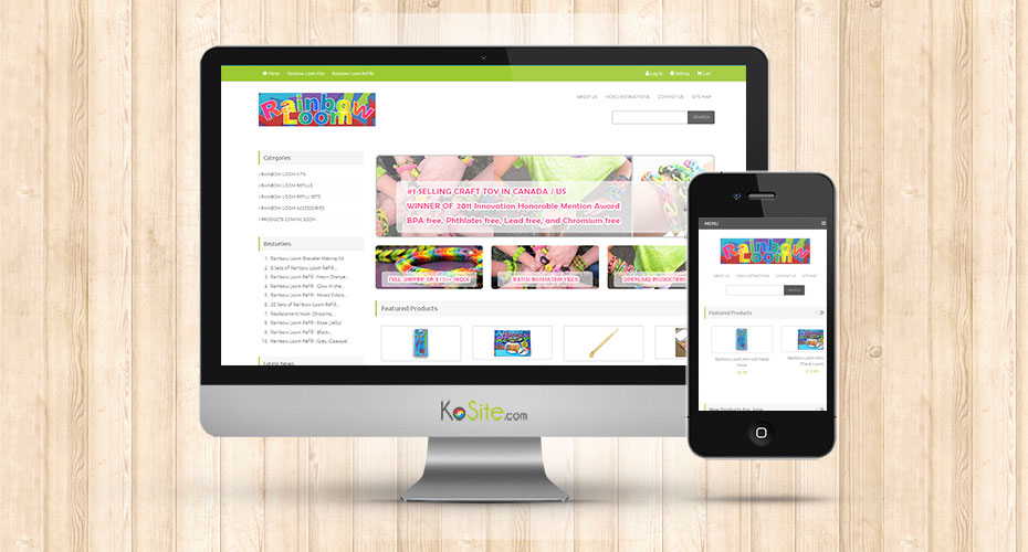 eCommerce website for kid's craft toy