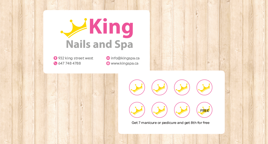 Coupon design & print for a spa