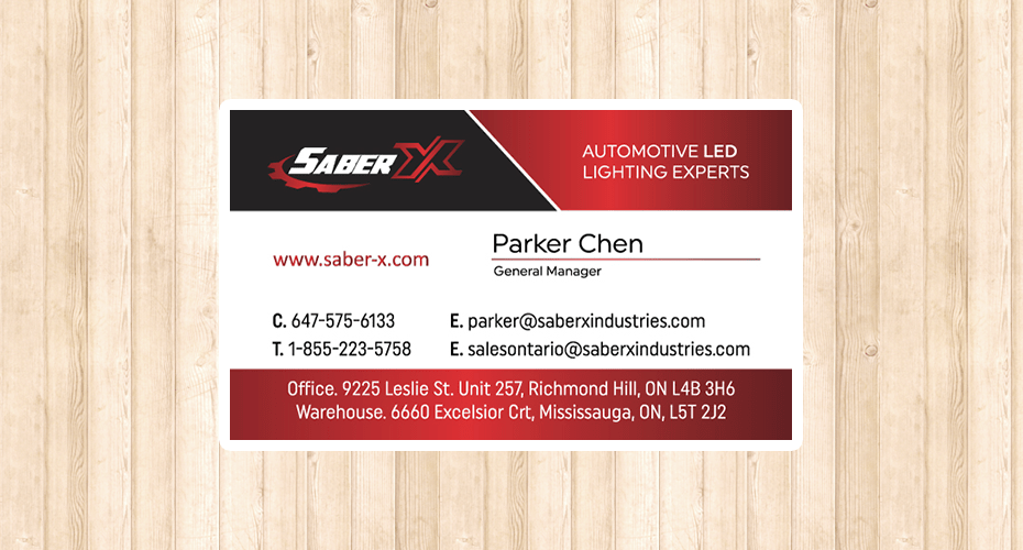 Business Card Design and Printing for Saber X