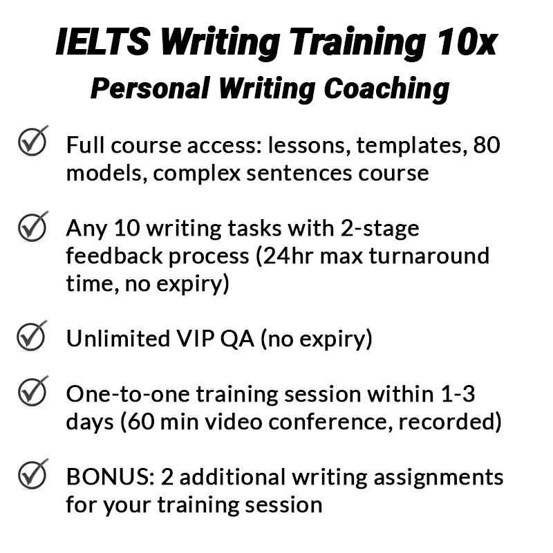 IELTS Writing Training - 10x 2x 1