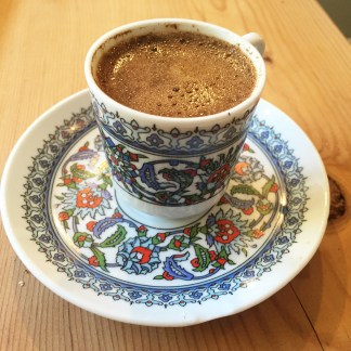 Turkish coffee - thick and fragrant