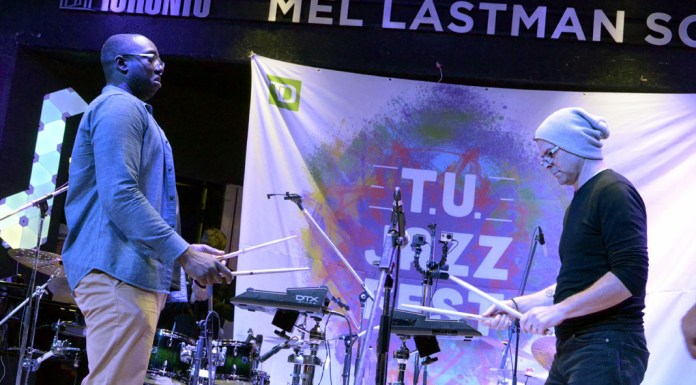 Larnell Lewis and Mark Kelso at The T.U. Jazz Festival 2017