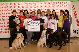 Linda and her team for the walk come from Curves Fitness.