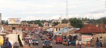 David Campbell's group stayed in Ho, a market-based town 30 minutes away from Kpedze Todze in Ghana.