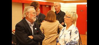Members of the Port Union community mingle at the 25th anniversary of Port Union Community and Recreation Centre.