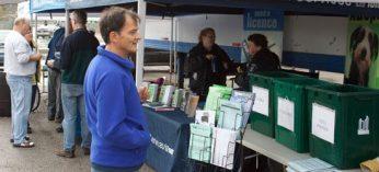 Tents offer environmental tips at Ward 43's Environment Day last Saturday.