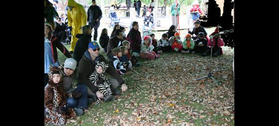 Story time and a sing-along for all the kids before their treats.