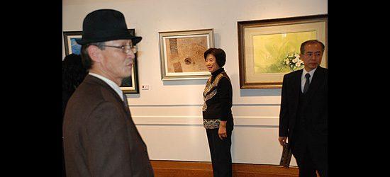 Artists Bok Yun Kim, Hee ja Kim and Kwangeui Chang, three of the 12.