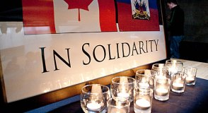 """Light vigil ceremony at U of T Scarborough is """"in solidarity"""" for Haiti's earthquake victims."""