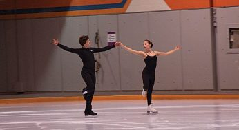 Vanessa Crone and Paul Poirier practise their routine.