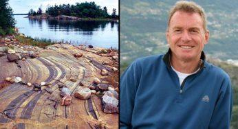 Left: The Scarborough Bluffs Right: Professor Nick Eyles