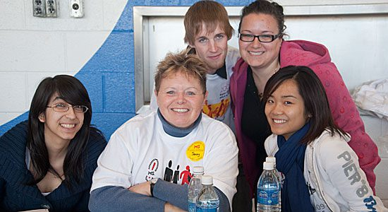 Volunteers at the MS Walk helped make the event run smoothly.