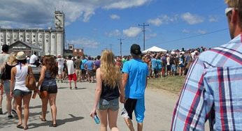 Throngs of people flock to Collingwood, Ont. to catch the wakeboarders, BMX riders, skateboarders and bands at Wakestock. The 13th edition of the festival took place at Millenium Park in Collingwood Harbour on Aug. 6, 7, and 8.