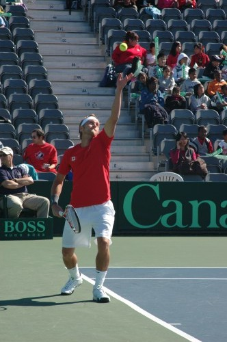 Peter Polansky started Canada off in winning fashion in Davis Cup action on Friday.