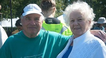 Don Burnet, founder of West Rouge Family Day, and his wife Margaret enjoy the beautiful weather during the 17th annual Family Day. Held on Sept. 18, the event was also a celebration of the 50th anniversary of the West Rouge Sports and Recreation Association.