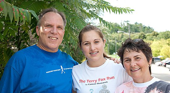 West Hill's annual Terry Fox Run on Sept. 19 is a family affair for Wanda Wierzbicki, Krystina Elbertsen and Rob Elbertsen.