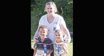 Sally Hill, son Peyton and daughter Calypso make it a family day at Cedarbrook Park's annual Terry Fox Run on Sept. 19.