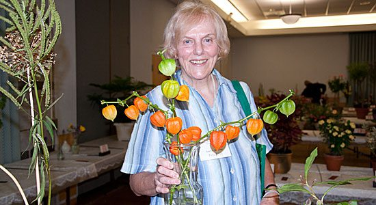 Anette Hurlihey took home a first-place ribbon for her Chinese lantern plant from the Scarborough Garden and Horticultural Society's annual flower show, held at the Scarborough Village Community Centre on Sept. 11.