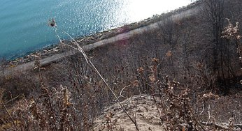 The Bluffs erode by two feet every year, and some residents live dangerously close to the edge.