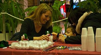 At the Scarborough Civic Centre tree-lighting event Dec. 1, several craft tables were set up to keep kids busy. The event also included performances, and photo-ops with Santa.