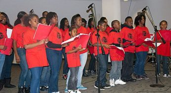 Members of the youth choir TC3 perform at the Scarborough Civic Centre tree-lighting event Dec. 1. The event was just one on the list of many for the choir, which performs nationally and internationally.