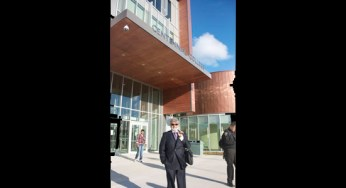 Abraham Iki, a Project Executive of Bell Canada Enterprises and one of Centennial College's professors of project management, said the library is groundbreaking in its incorporation of greenery with collective gathering spaces.