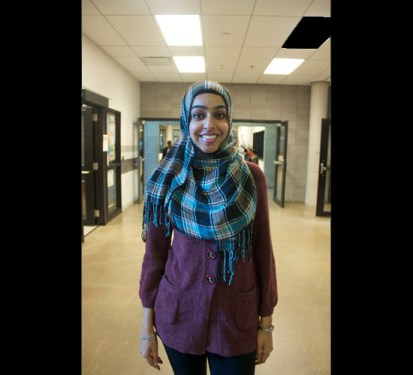 Farrah Chanda Aslam, 22, works at UTSC while also pursuing her Masters degree in Social Work and Community Development at U of T's St. George campus.