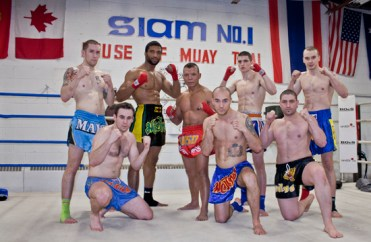 The team of all the advanced fighters of this Muay Thai gym. The gym will be celebrating its 20-year-anniversary this March.