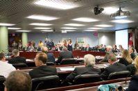 Commissioner Maria Augimeri applauded after TTC worker Carmen Miller appealed to the TTC board.