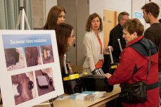 Residents were shown how a backwater valve could be installed and were able to see the size of the valves.