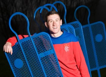 Fraser Aird, 17, sporting his favourite jersey.