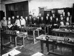 Manual training was introduced to male students at Duke of Connaught around Grade 4. Here they would learn about mechanical-related things like woodwork.