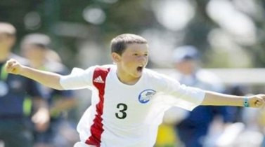 A younger Fraser Aird, always a champion at heart.
