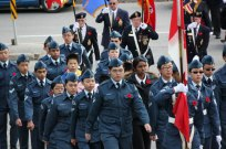 Cadets march into Scarborough Civic Centre for Remembrance Day ceremony.